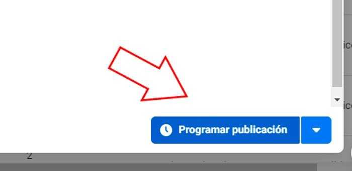 botón programar publicación